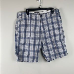 Billabong Plaid Grey and Blue Shorts Size 36